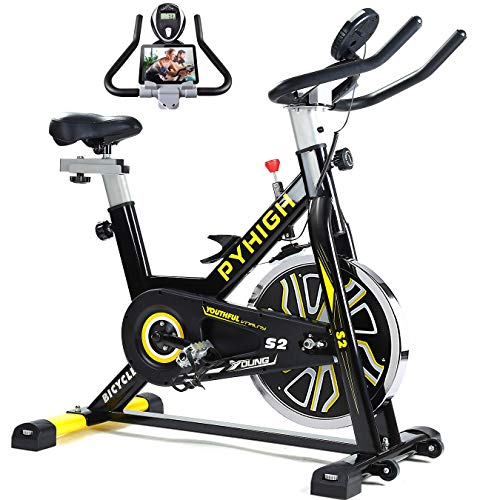 PYHIGH Indoor Cycling Bike Belt Drive...
