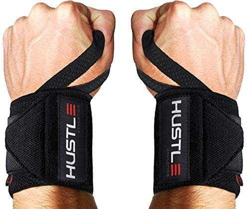 Hustle Athletics Wrist Wraps Weightlifting -...