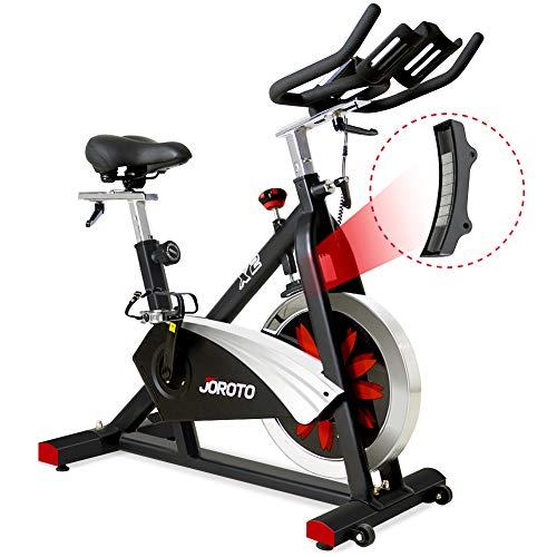 JOROTO Belt Drive Indoor Cycling Bike with...