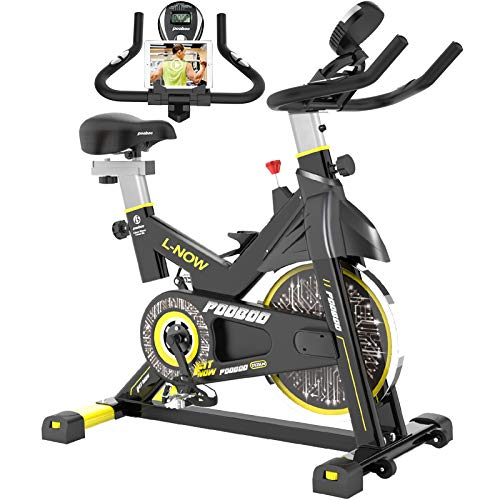 pooboo Indoor Cycling Bike, Belt Drive Indoor...