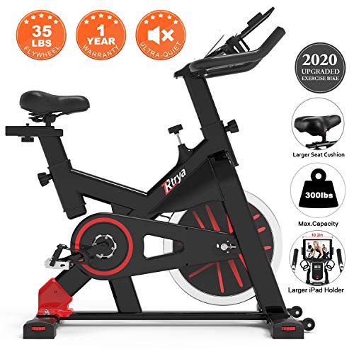 TRYA Spin Bike, Belt Drive Indoor Cycling...