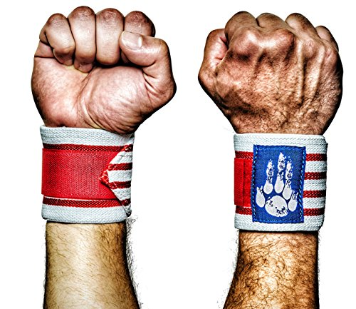 Superior Weightlifting Wrist Support and Protection for Crossfit Workout More Durable Lifting Wraps for Wrists with Thumb Loops for Men and Women Gym 1 Pair Gooda Grip Wrist Wraps