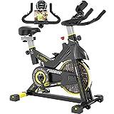 pooboo Indoor Cycling Bike, Belt Drive Indoor...