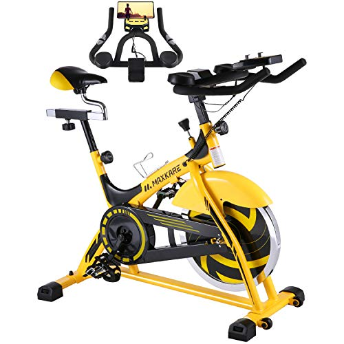 MaxKare Stationary Bike Belt Drive Indoor...