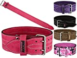 MRX Powerlifting Leather Belt 4' Wide 10mm...