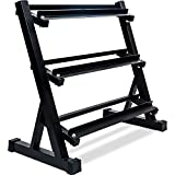 Merax 800lbs 3-Tier Dumbbell Rack Multilevel...