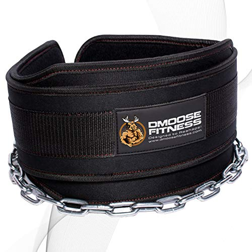 DMoose Fitness Dip Belt with Chain for...