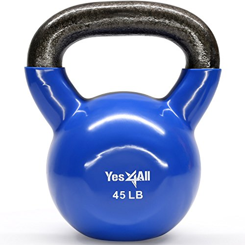 Yes4All Vinyl Coated Kettlebells – Weight...
