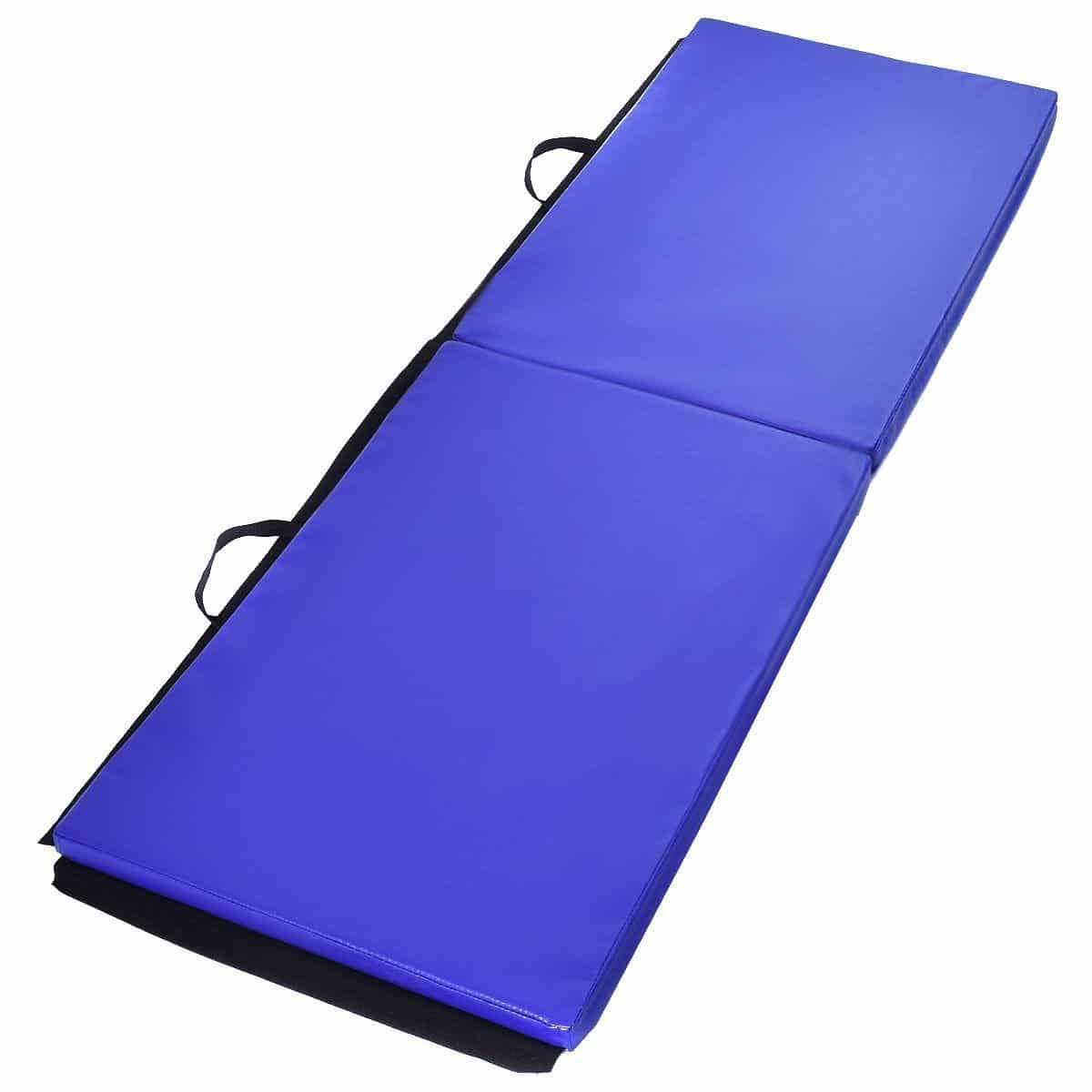 pad exercise gymnastics best mats pading flooring rated big pcr pu leather wolfwise fold customer mat reviews folding tumbling in tri balance helpful gym