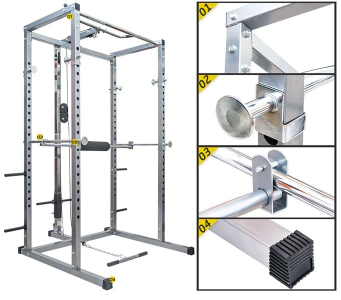 Merax Athletics Fitness Power Rack features
