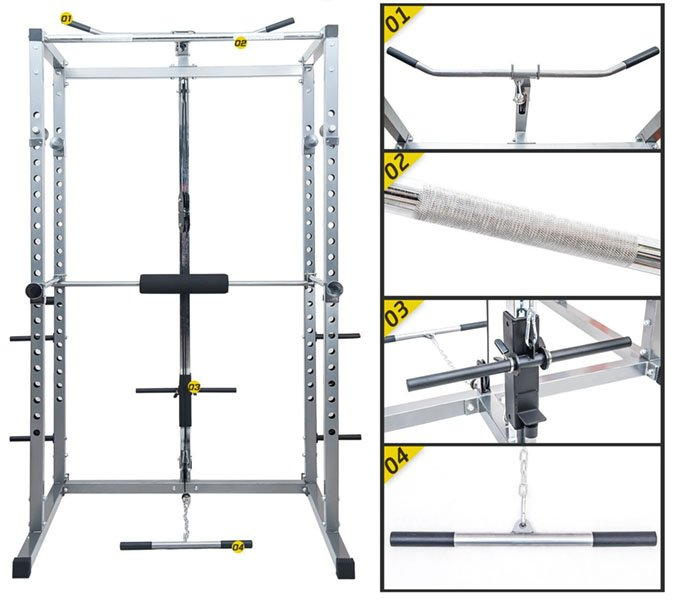 Merax Athletics Fitness Power Rack features 2