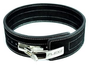 Flexz Fitness Powerlifting and Weightlifting Belt with Lever Buckle