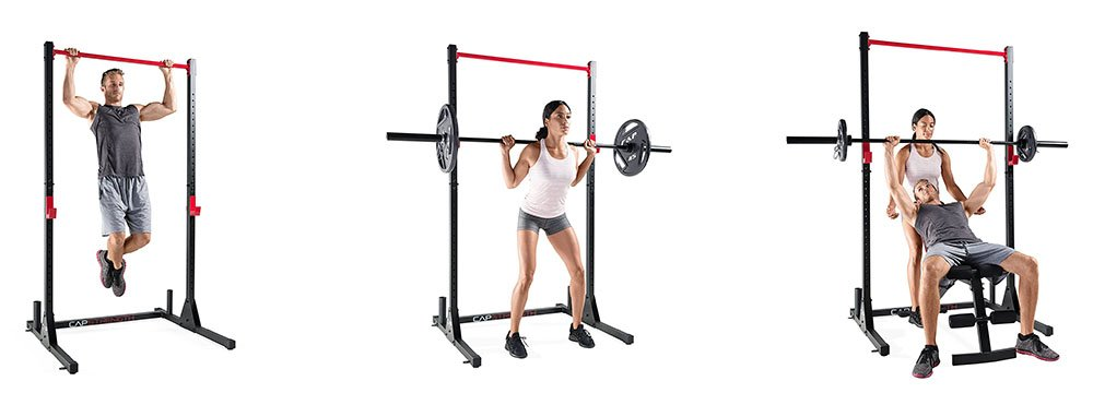 Cap Barbell Power Rack - All Exercises