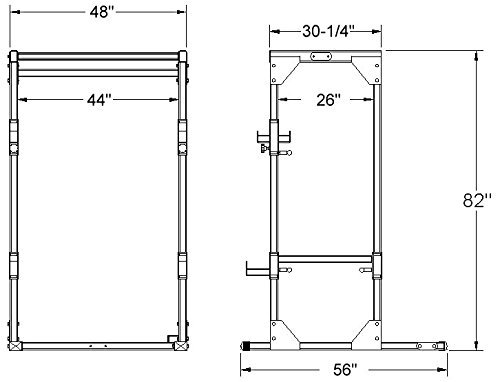 Deltech Power Rack Dimensions