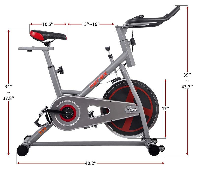 Merax Indoor Cycling Bike Dimensions