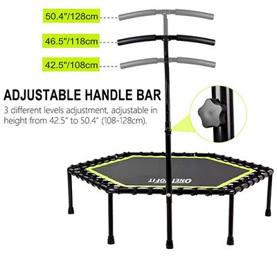 OneTwoFit Silent Mini Trampoline
