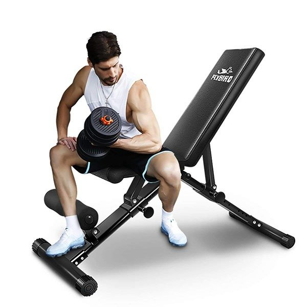 Flybird adjustable weight bench tested reviewed garage gym pro