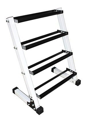 Ader Sporting Goods 4 Tier Dumbbell Rack
