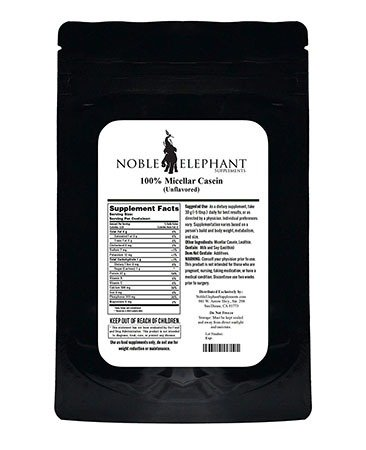 Noble Elephant Supplements 100% Micellar Casein Protein Powder