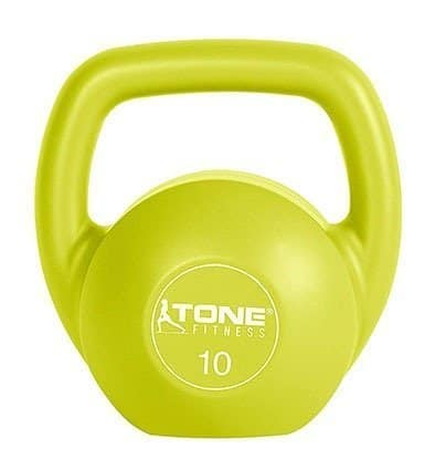 Tone Fitness Vinyl Coated Cement Filled Kettlebell