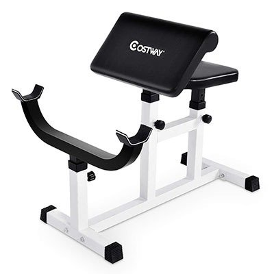 GOPLUS Preacher Curl Weight Bench