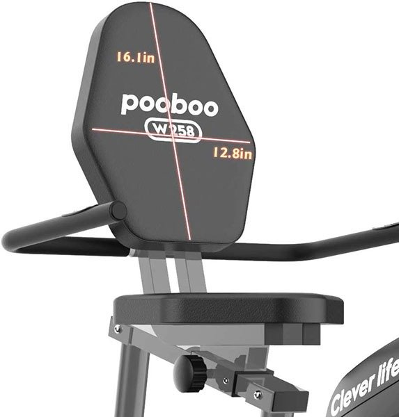 pooboo Magnetic Recumbent Bike Seat