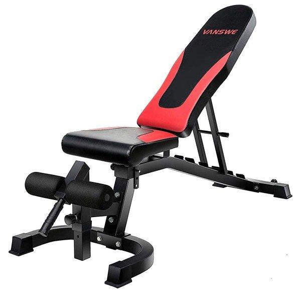Vanswe 800 lbs Adjustable Weight Bench