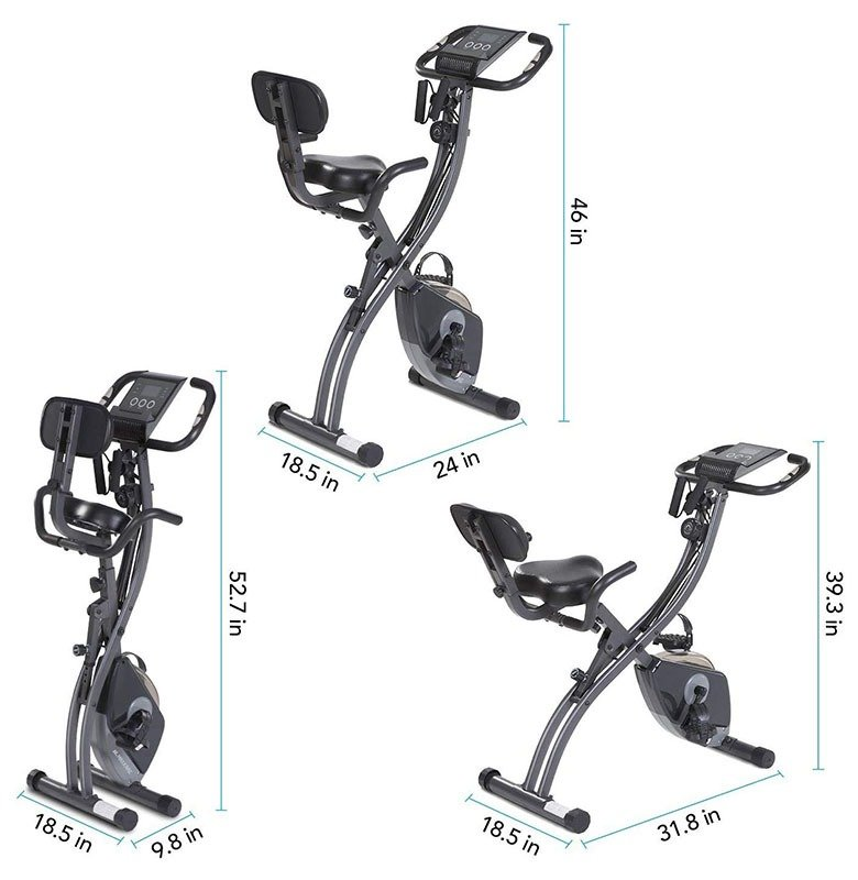 MaxKare 3 in 1 upright folding bike specs