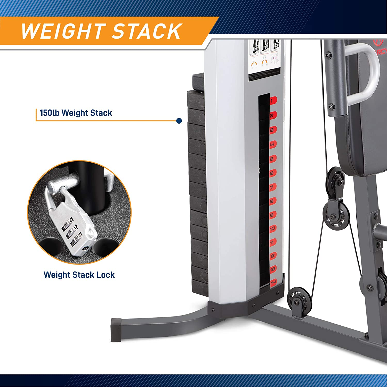 Marcy MWM 988 weight stack
