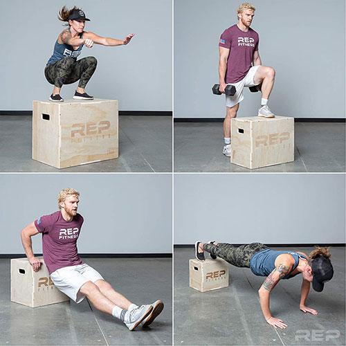 Rep Fitness 3 In 1 Wood Plyometric Box